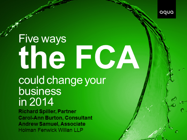 5 ways the FCA could change your business in 2014