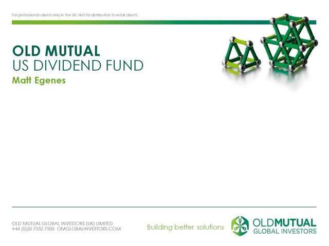 Old Mutual US Dividend Fund quarterly update