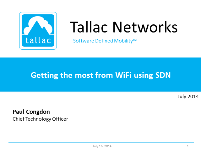 Getting The Most From WiFi Using SDN