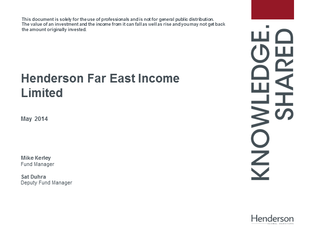 An update on Henderson Far East Income Limited