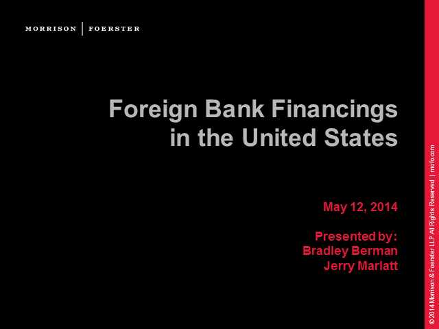 Foreign banks raising capital in the US