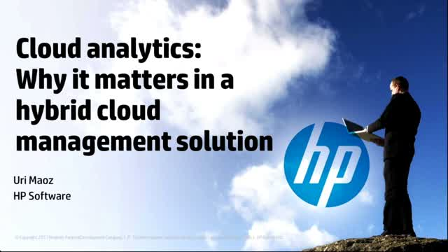 Cloud Analytics: Why it matters in a Hybrid Cloud Management solution