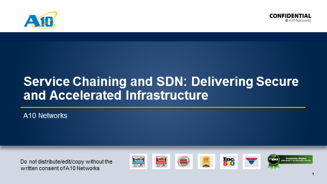 Service Chaining and SDN: Delivering Secure and Accelerated Infrastructure