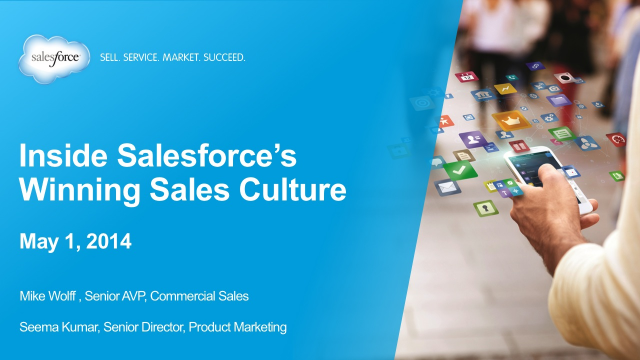 Inside Salesforce's Winning Sales Culture