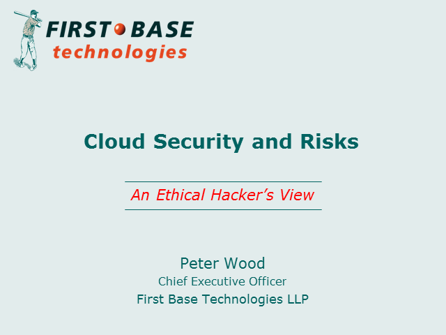 Cloud Security and Risks: An Ethical Hacker's View