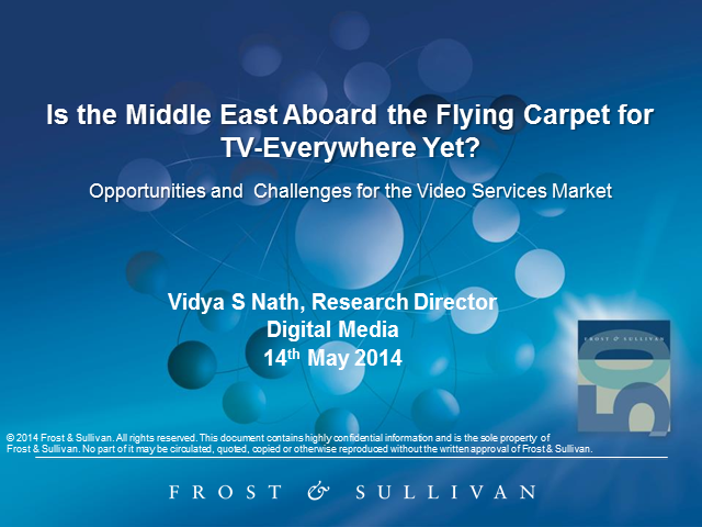 Is the Middle East Aboard the Flying Carpet for TV-Everywhere Yet