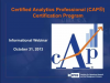 INFORMS - Certified Analytics Professional (CAP®) Certification Program