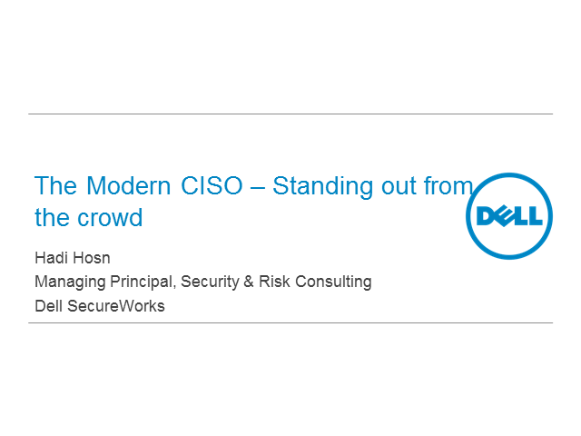 The modern CISO:  Standing out from the crowd