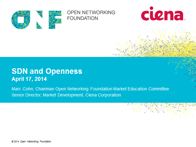 SDN and Openness