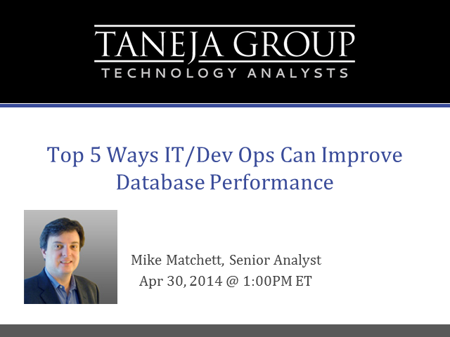 Top 5 Ways for IT/Dev Ops to Improve Database Performance