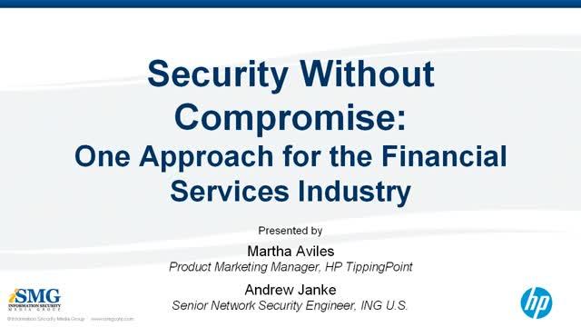 Security Without Compromise: One Approach for the Financial Services Industry