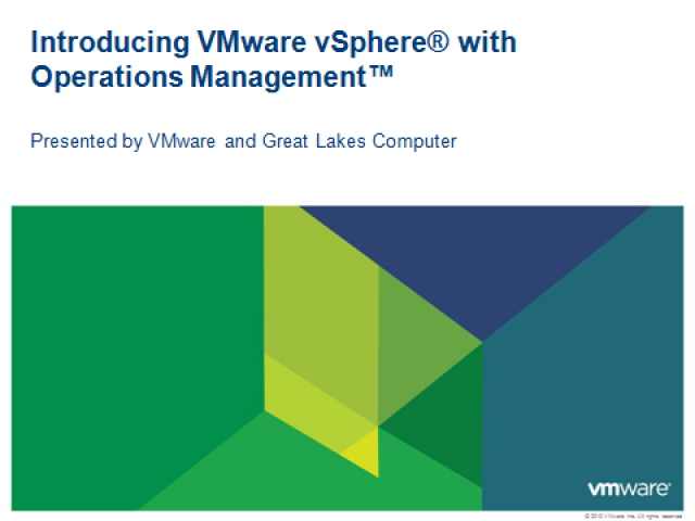 Introducing VMware vSphere with Operations Managment