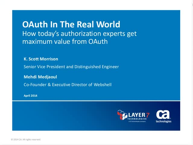 OAuth in the Real World featuring Webshell