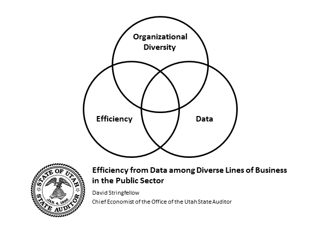 Efficiency from Data among Diverse Lines of Business in the Public Sector