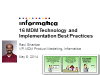 16 MDM Technology and Implementation Best Practices