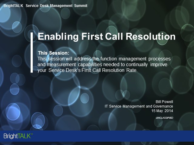 Enabling First Call Resolution