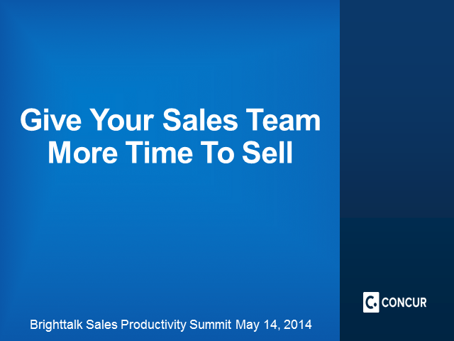 Give Your Sales Team More Selling Time