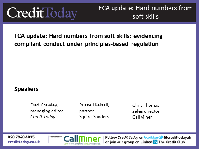 FCA update: Evidencing compliant conduct under principles-based regulation