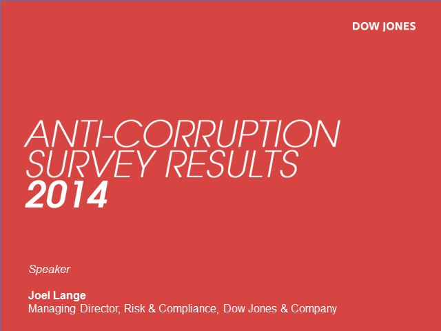 State of Anti-Corruption Compliance Survey