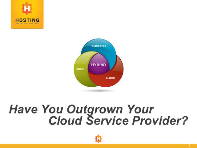 Have You Outgrown Your Cloud Service Provider?