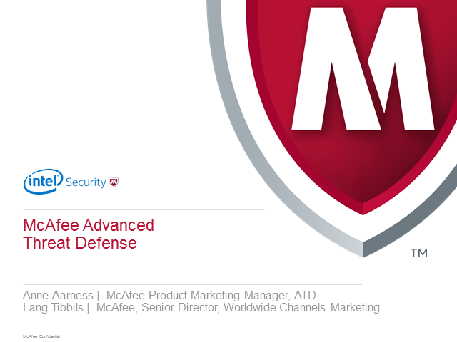 Sales Essentials - Advanced Threat Defense Find, Freeze and Fix