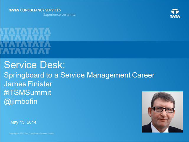 Service Desk : Springboard for a Service Management Career