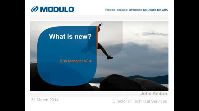 What's New Modulo Risk Manager v8.4