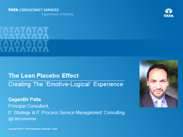 The Lean Placebo Effect: Creating The 'Emotive-Logical' Experience