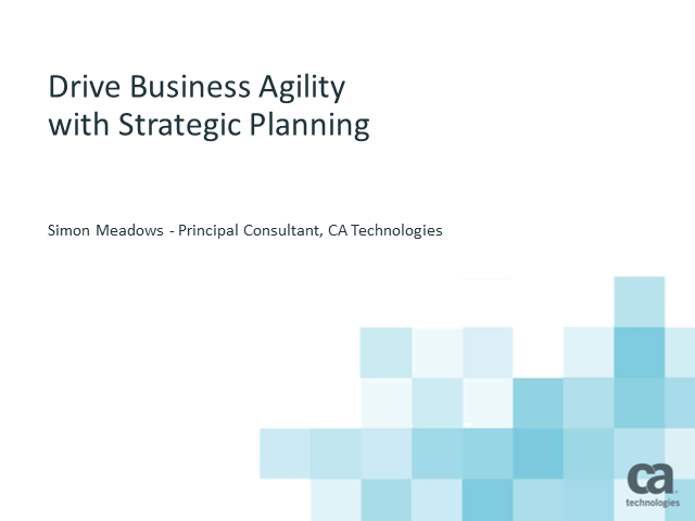 Drive Business Agility with Strategic Planning