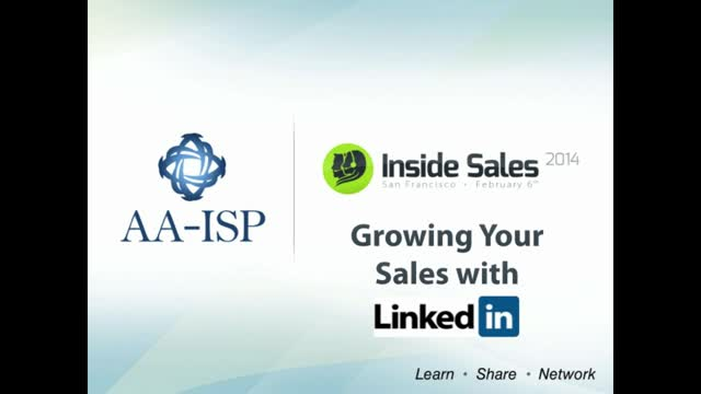 Growing Your Sales with LinkedIn