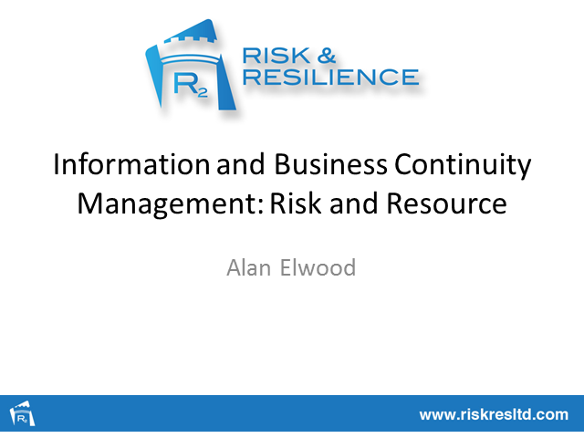 The management of information related risks