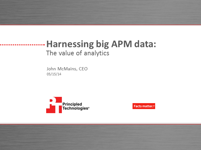 Cracking the Code on APM Big Data