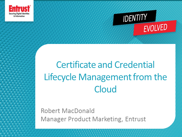 Insights: Methodology for Cloud Certificate Lifecycle Management