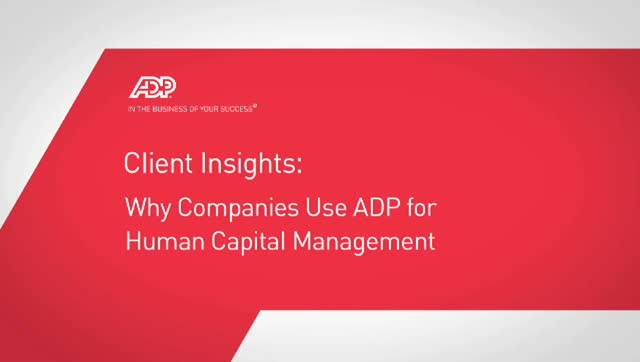 See Why Clients Choose ADP