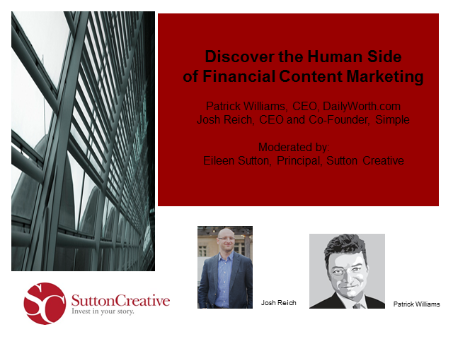The Human Side of Financial Content Marketing
