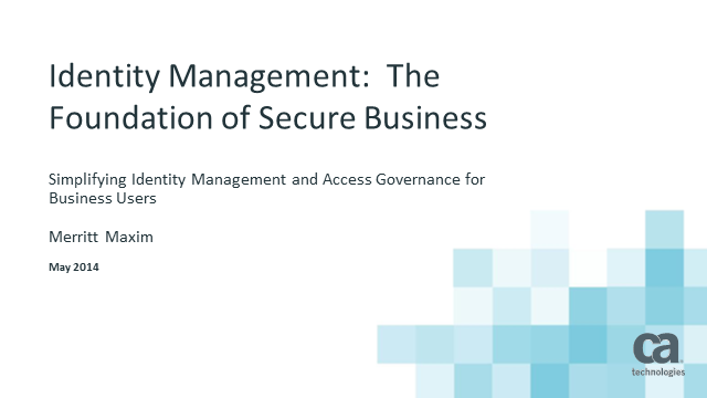 Identity Management: The Foundation of Secure Business (Global Event)