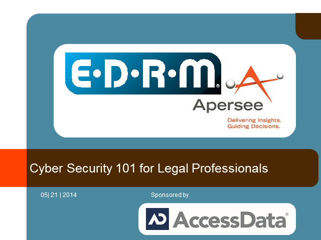Cyber Security 101 for Legal Professionals