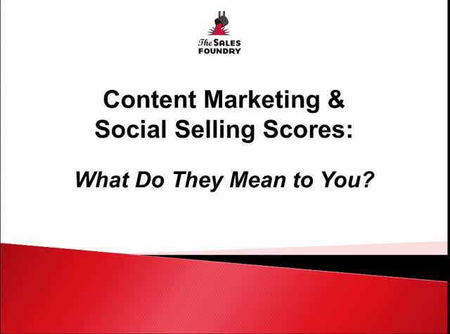 Content Marketing and Social Selling Scores