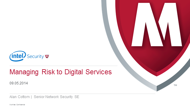 Public Sector & Education- Managing Risk To Digital Services