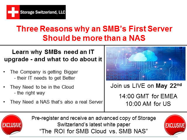 Three Reasons Why an SMB's First Server should be more than a NAS