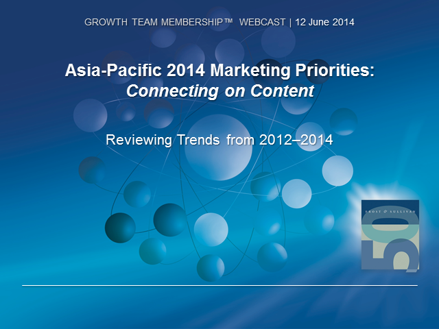 2014 Asia Pacific Marketing Priorities Survey: Connecting on Content