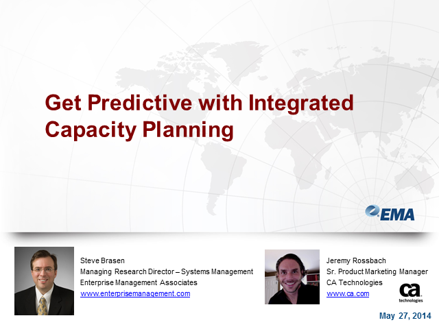 Get Predictive with Integrated Capacity Planning