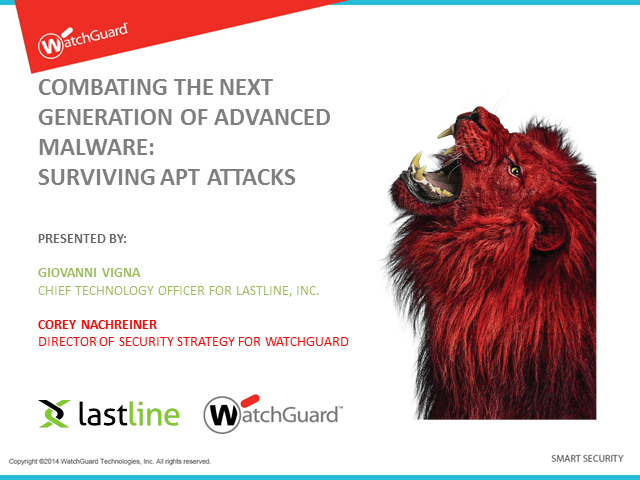 Combating the Next Generation of Advanced Malware: Surviving APT Attacks