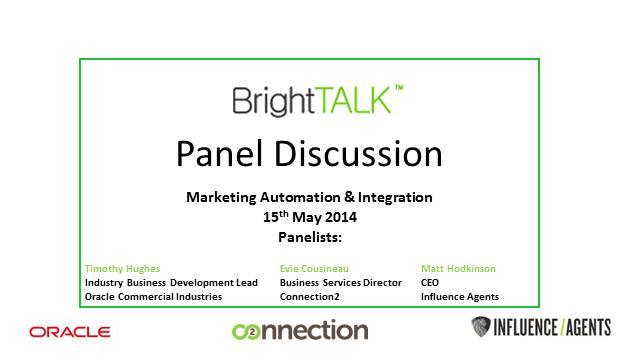 Panel: Marketing Automation Across Multiple Channels