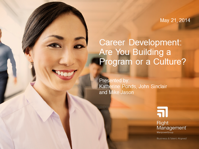 Career Development: Are you building a program or a culture?