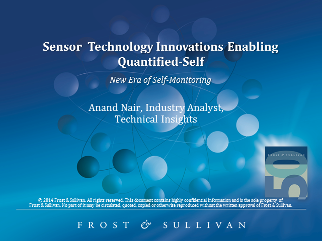 Sensor Technology Innovation Enabling Quantified-Self