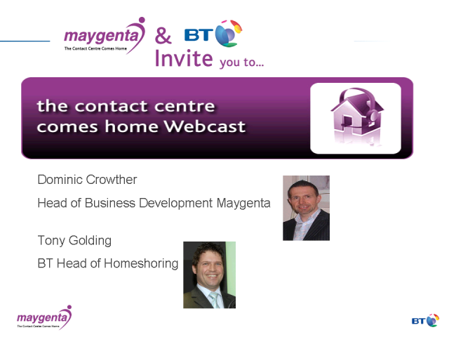 Maygenta - the contact centre comes home