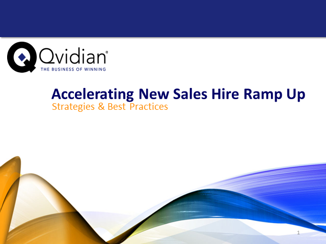 Accelerating Sales Rep Ramp-Up