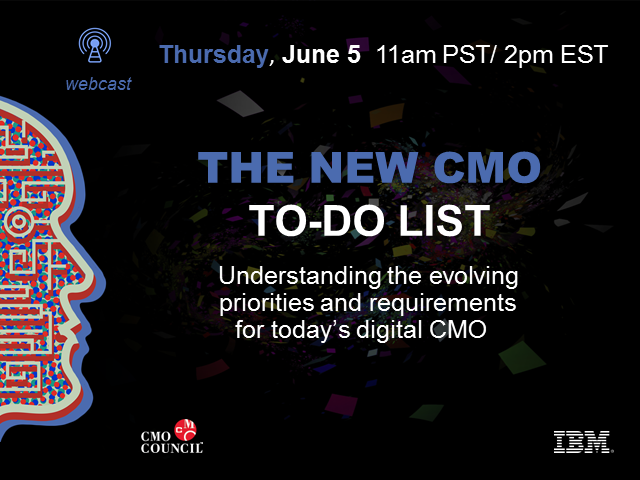 The New CMO To-Do List