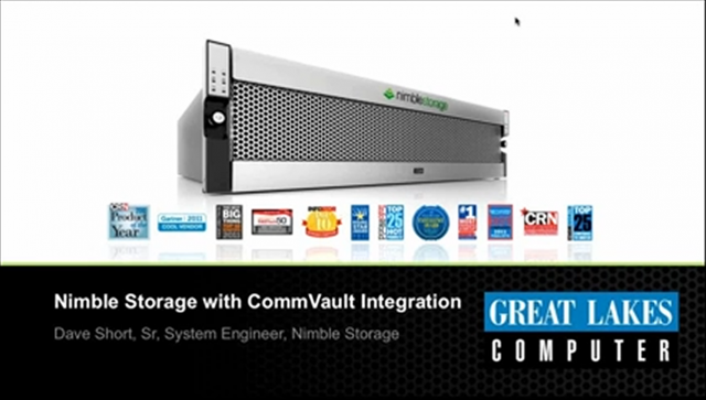 Nimble Storage with CommVault Integration